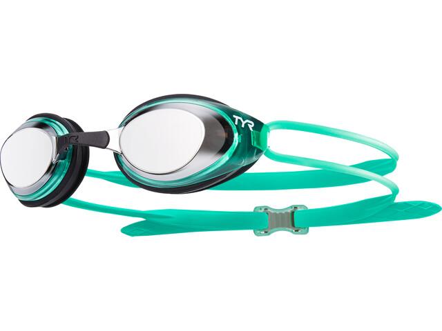 TYR Black Hawk Racing Polarized Goggles Dames, slver/mint